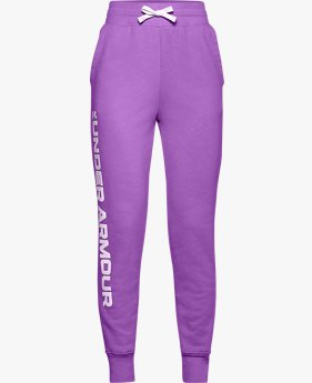 Meisjesjoggingbroek UA Rival Fleece